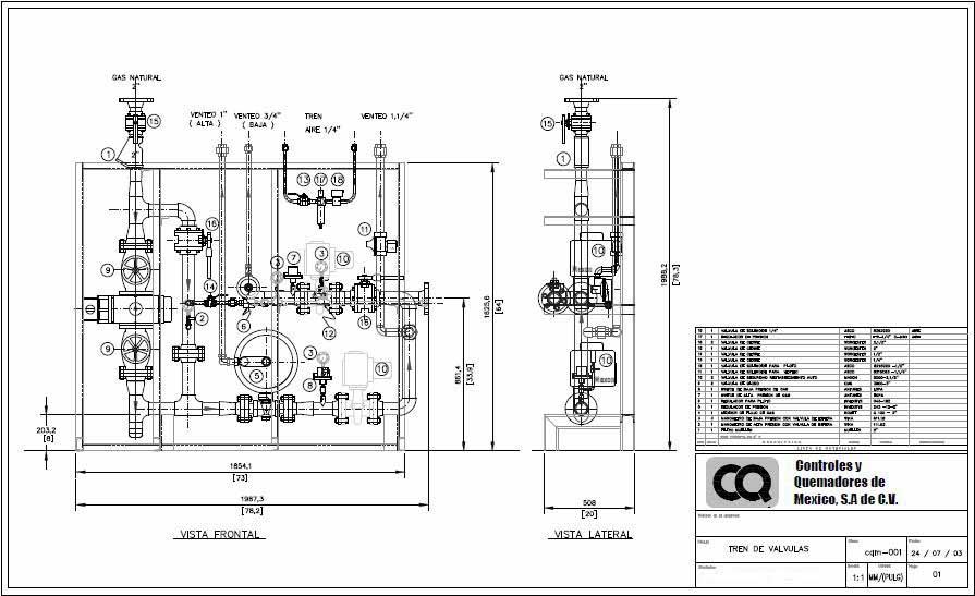 Controles y quemadores de m xico hornos industriales calderas for Instalacion de gas lp